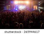hand up at the disco concert  | Shutterstock . vector #265944617