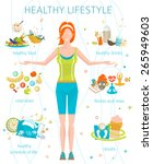 concept of healthy lifestyle  ... | Shutterstock .eps vector #265949603