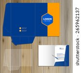classic blue folder template... | Shutterstock .eps vector #265962137