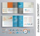 checkered brochure template... | Shutterstock .eps vector #265969097