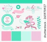 vintage floral set | Shutterstock .eps vector #265970927