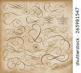 calligraphic design elements... | Shutterstock .eps vector #265981547