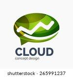 modern cloud company logo... | Shutterstock . vector #265991237