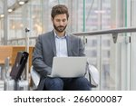 casual business man working on... | Shutterstock . vector #266000087