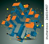 contemporary technology... | Shutterstock .eps vector #266014907