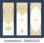 vintage ornate cards in...   Shutterstock .eps vector #266022113
