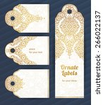 vintage ornate cards in... | Shutterstock .eps vector #266022137