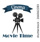 cinema icons design  vector... | Shutterstock .eps vector #266062283
