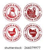 chicken and turkey rubber... | Shutterstock .eps vector #266079977