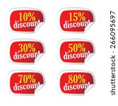 sticker with discount on it... | Shutterstock .eps vector #266095697