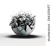 broken sphere standing on... | Shutterstock . vector #266105657
