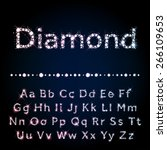 vector diamond letters. shiny... | Shutterstock .eps vector #266109653