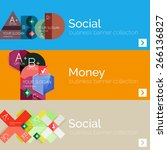 flat modern info banner set... | Shutterstock .eps vector #266136827
