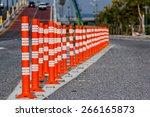 traffic cone traffic cone in... | Shutterstock . vector #266165873