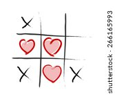 tic tac toe   love wins | Shutterstock .eps vector #266165993