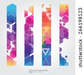 set of trendy bright colorful... | Shutterstock .eps vector #266198123