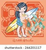 Hawaiian Girl With Surf.screen...