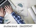 an architect working with... | Shutterstock . vector #266209547