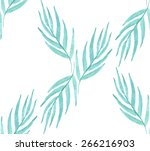 turquoise tropical leaves... | Shutterstock .eps vector #266216903