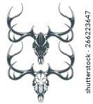 deer skull   Shutterstock .eps vector #266223647