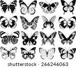 butterflies silhouettes | Shutterstock .eps vector #266246063