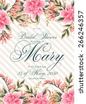 bridal shower invitation | Shutterstock .eps vector #266246357