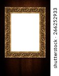 photo or painting frame on... | Shutterstock . vector #266252933
