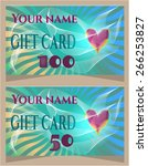 colorful gift card with text... | Shutterstock .eps vector #266253827