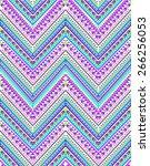 cool zigzag design   seamless...   Shutterstock .eps vector #266256053