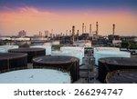 landscape of oil refinery...   Shutterstock . vector #266294747