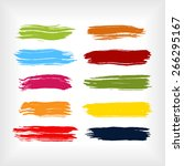 paint brush strokes collection. ... | Shutterstock .eps vector #266295167