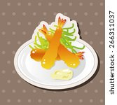 japanese food theme fried... | Shutterstock .eps vector #266311037