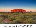 beautiful view of uluru  ayers... | Shutterstock . vector #266354993