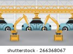 vector of automotive... | Shutterstock .eps vector #266368067