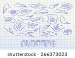 corporate auditing ... | Shutterstock . vector #266373023