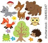 forest animal vector... | Shutterstock .eps vector #266401247