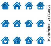 house icon set | Shutterstock .eps vector #266418803