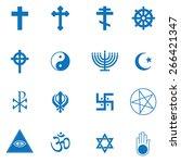 religion icons set | Shutterstock .eps vector #266421347