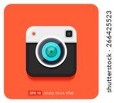 hipster retro photo camera icon.... | Shutterstock .eps vector #266425523