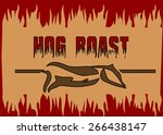 hog roast. | Shutterstock .eps vector #266438147