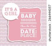 baby shower design over pastel... | Shutterstock .eps vector #266444057