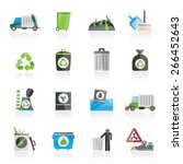garbage  cleaning and rubbish...   Shutterstock .eps vector #266452643