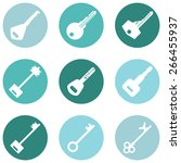 vector set of keys icons.... | Shutterstock .eps vector #266455937