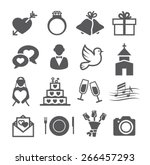 wedding icons  | Shutterstock .eps vector #266457293