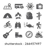 camping icons | Shutterstock .eps vector #266457497