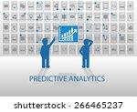 predictive analytics vector... | Shutterstock .eps vector #266465237