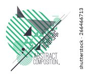 abstract composition with... | Shutterstock .eps vector #266466713