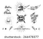 traditional tattoo biker set of ...