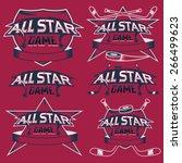 set of vintage sports all star... | Shutterstock .eps vector #266499623