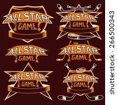 set of vintage sports all star... | Shutterstock .eps vector #266500343